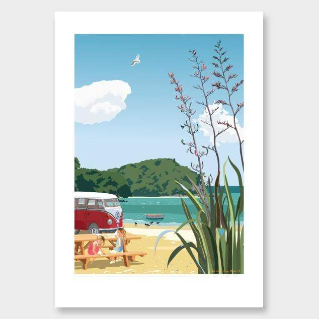 Beach Picnic Art Print by Contour Creative Studio