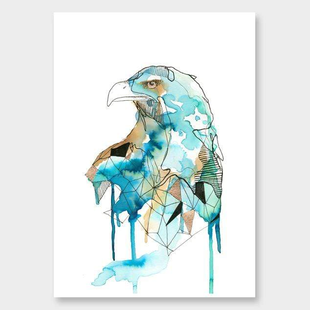 Blue Eagle Art Print by Makus Art