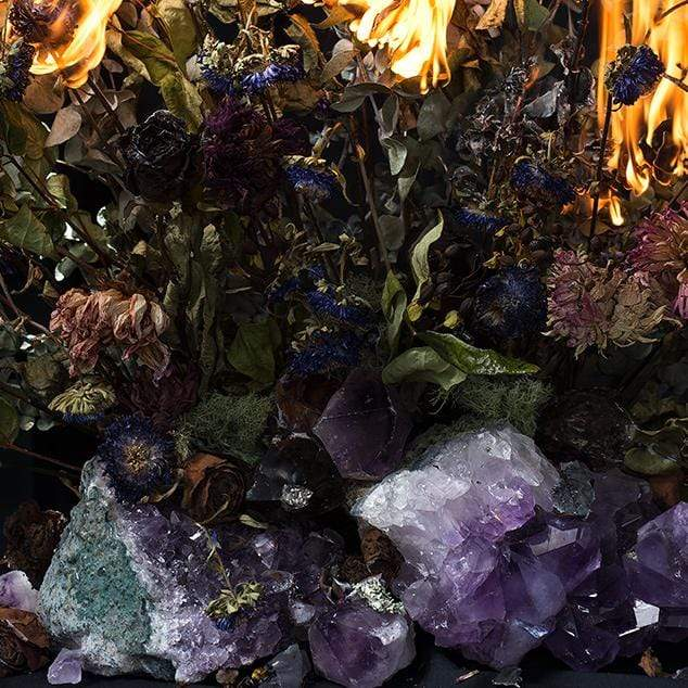 Burning Flowers with Amethyst Photographic Print by Georgie Malyon