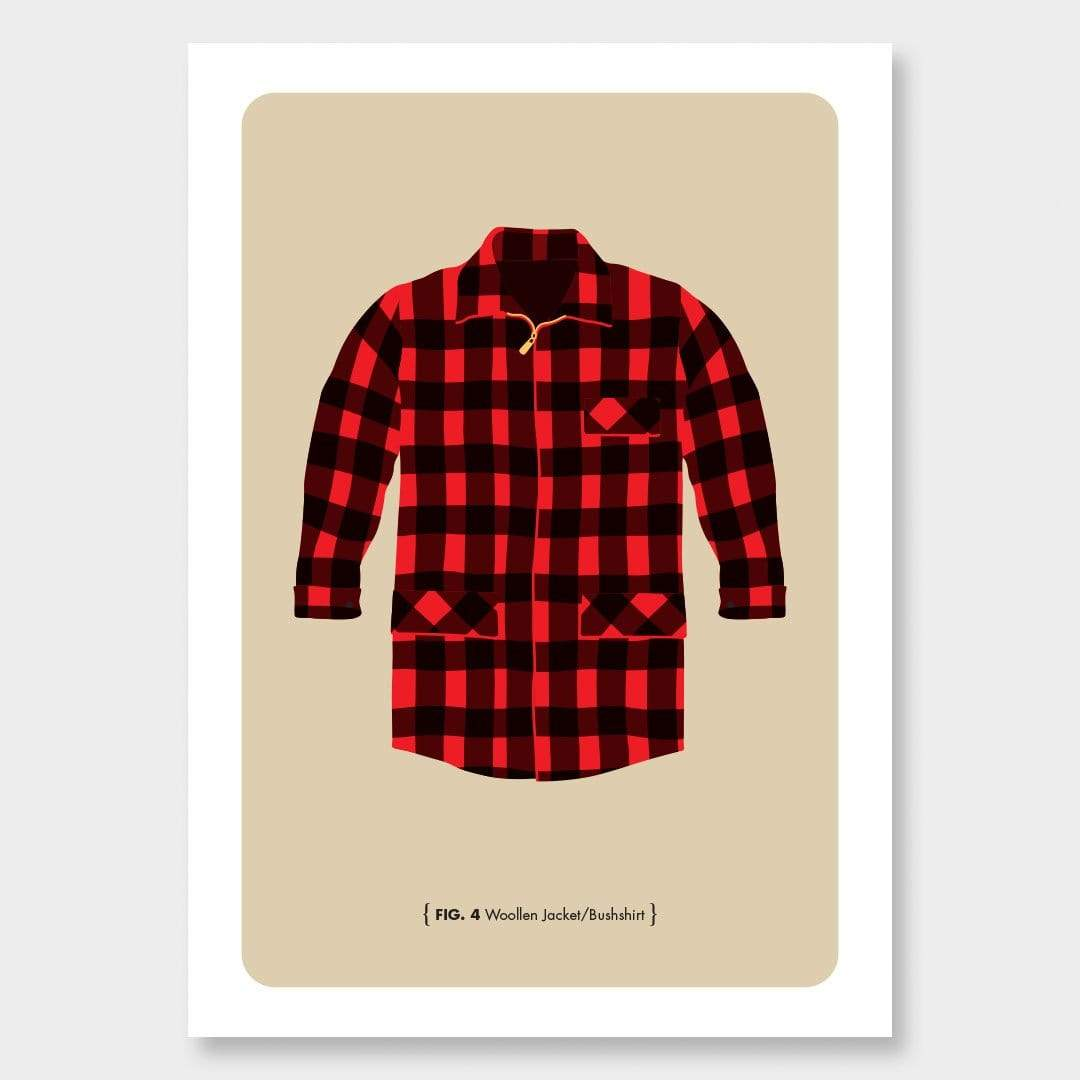 Bush Man Art Print Series: Bush Shirt by 326
