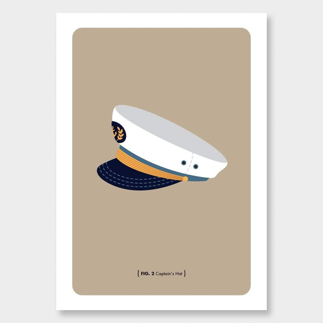 Nautical Man Art Print Series: Captain's Hat by 326
