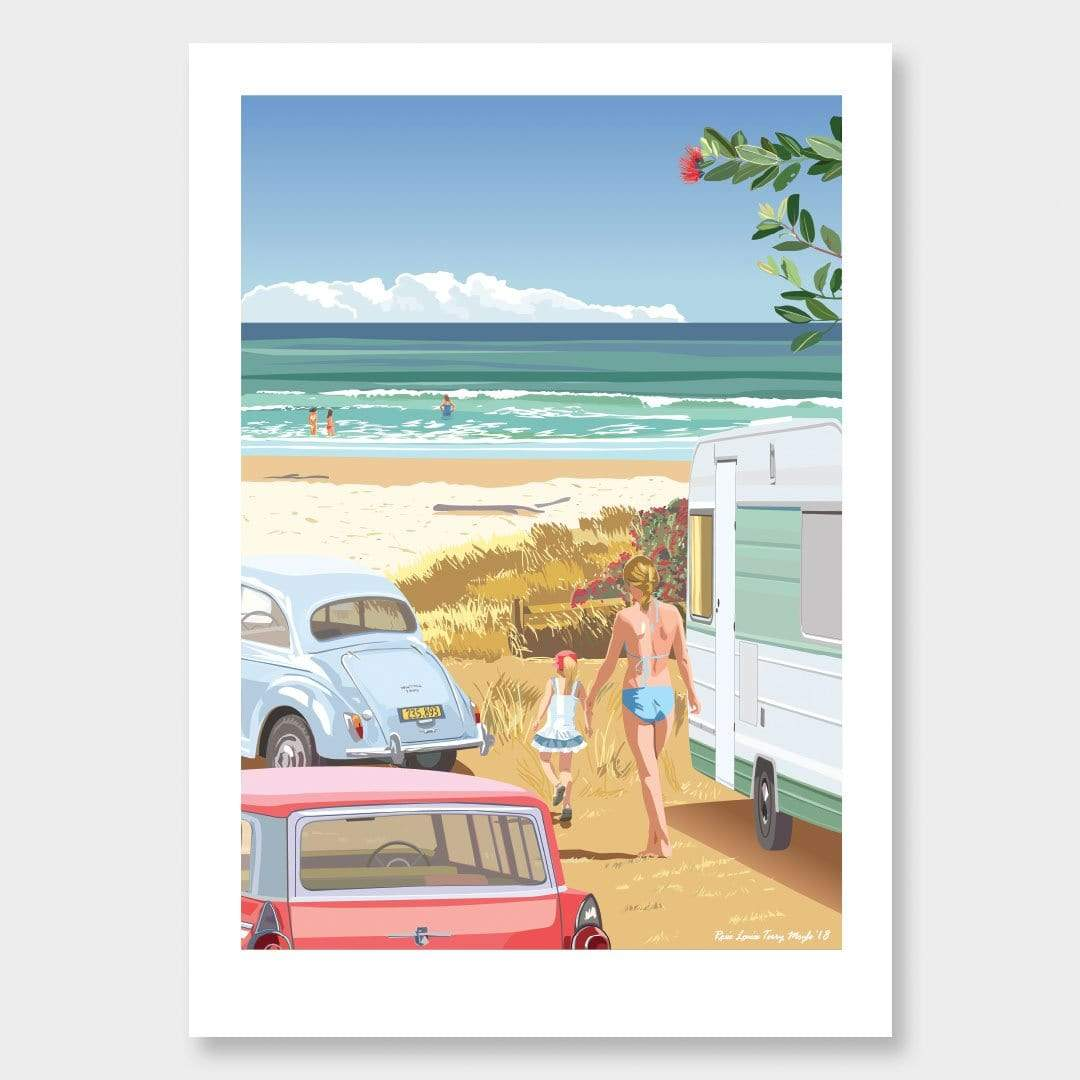 The Caravan Art Print by Contour Creative Studio