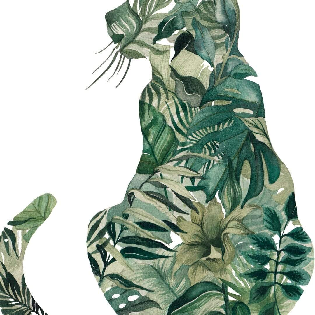 Cat Plant Art Print by Chloe Ruby