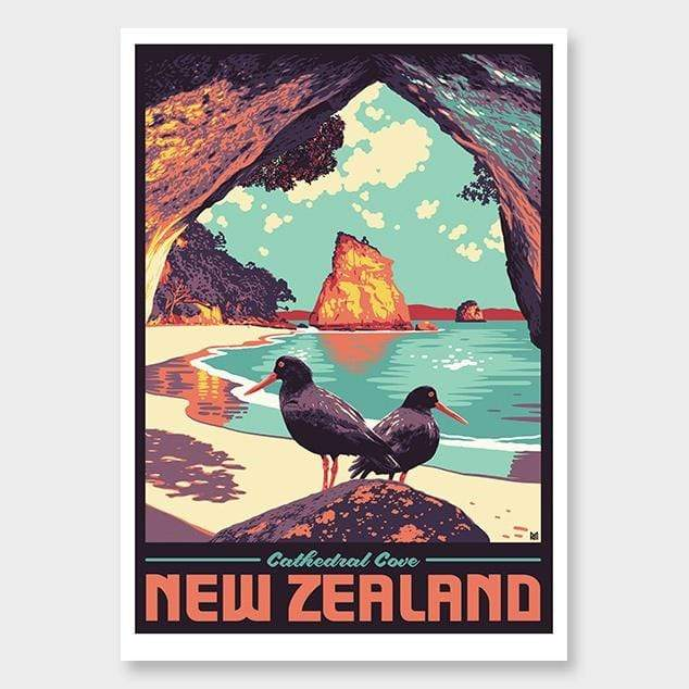 Cathedral Cove Art Print by Ross Murray