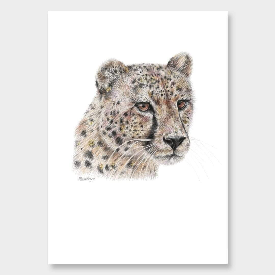Cheetah Art Print by Olivia Bezett