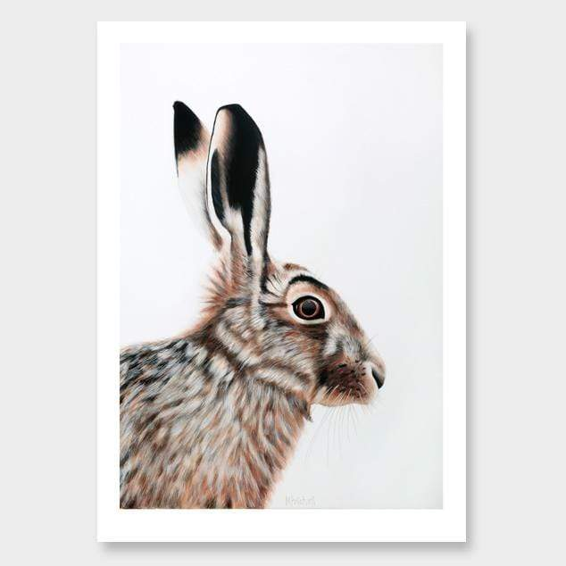 Clive Hare Art Print by Margaret Petchell