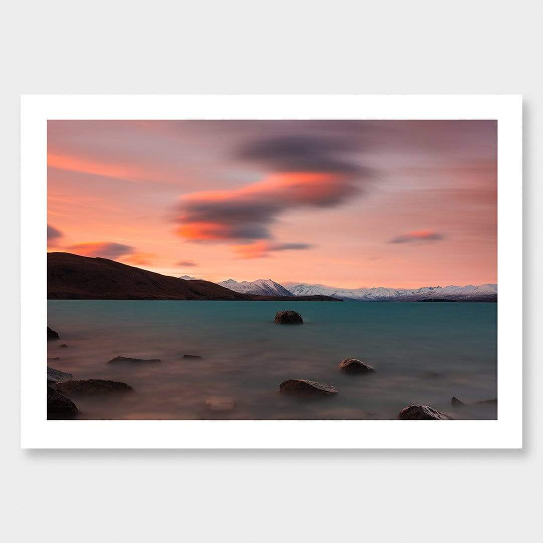 Clouds over Lake Tekapo Photographic Print by Mike Mackinven