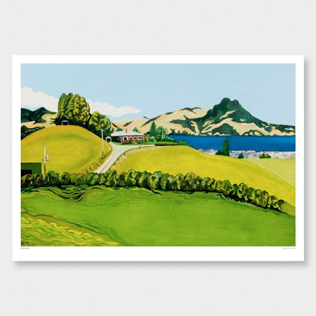Cooks Beach Art Print by Guy Harkness