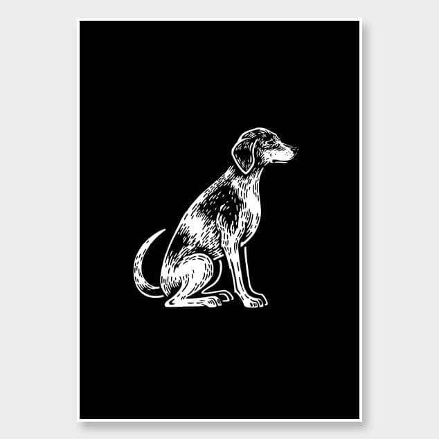 Coonhound Art Print by Natasha Vermeulen