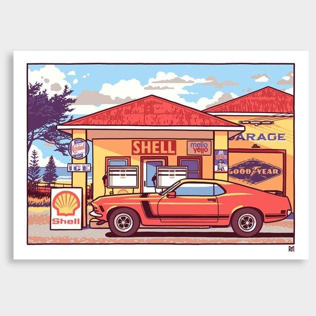 Cruisin' Art Print by Ross Murray