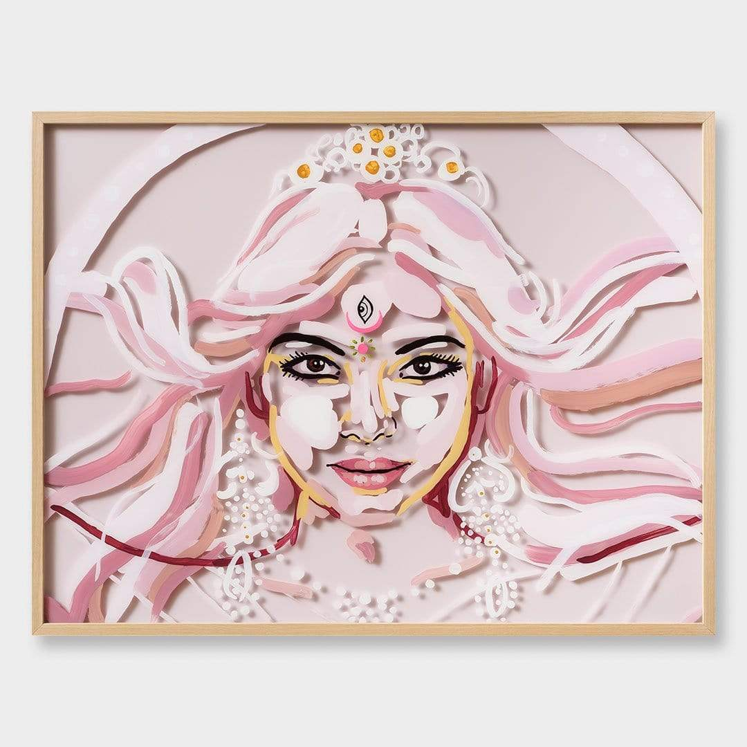 Durga Original Painting by Jen Sievers