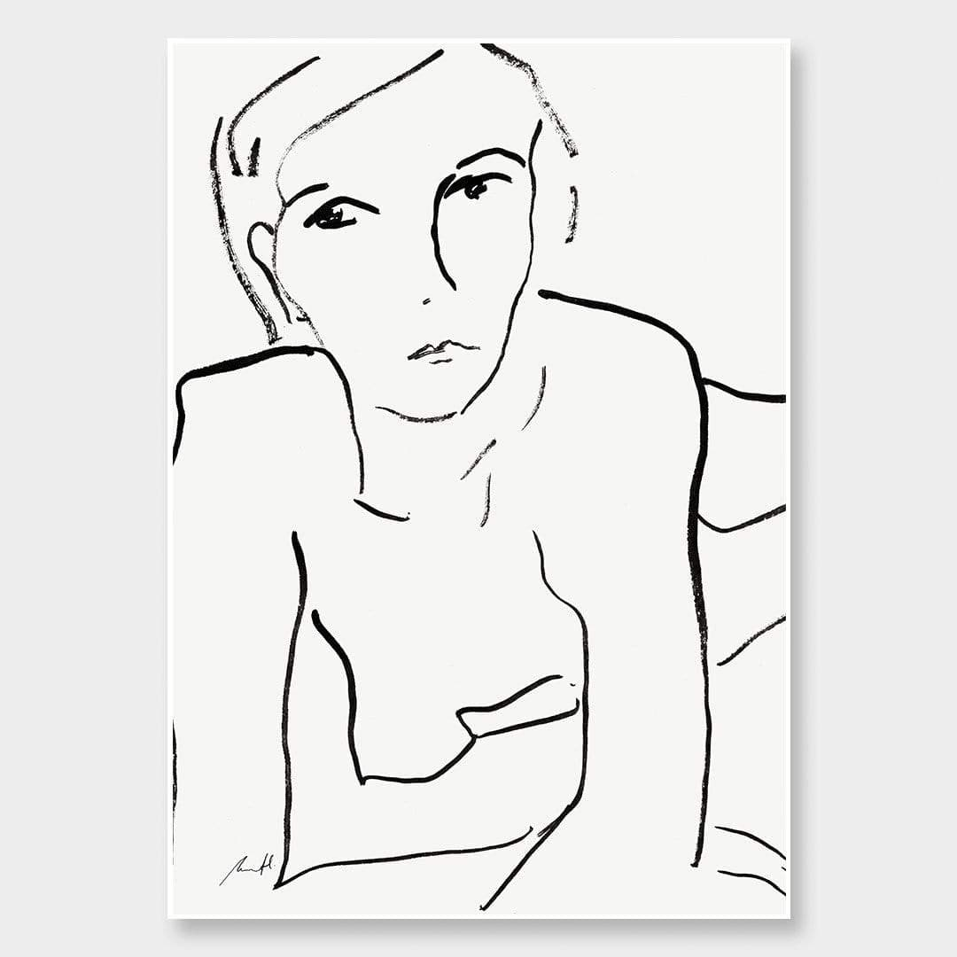 Face Art Print by George Sand Studio