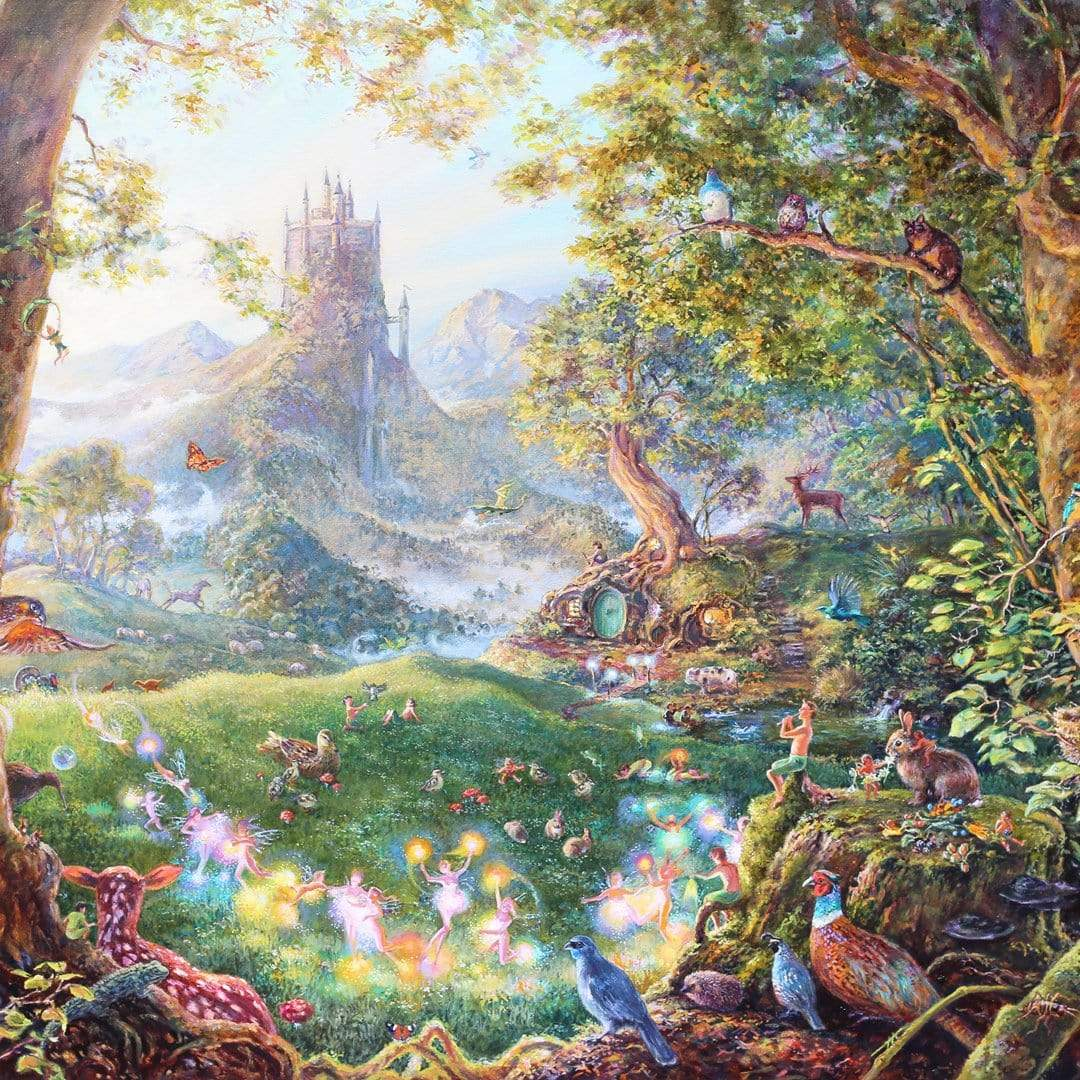First Light In The Fairy Kingdom Art Print by Josephine Davis