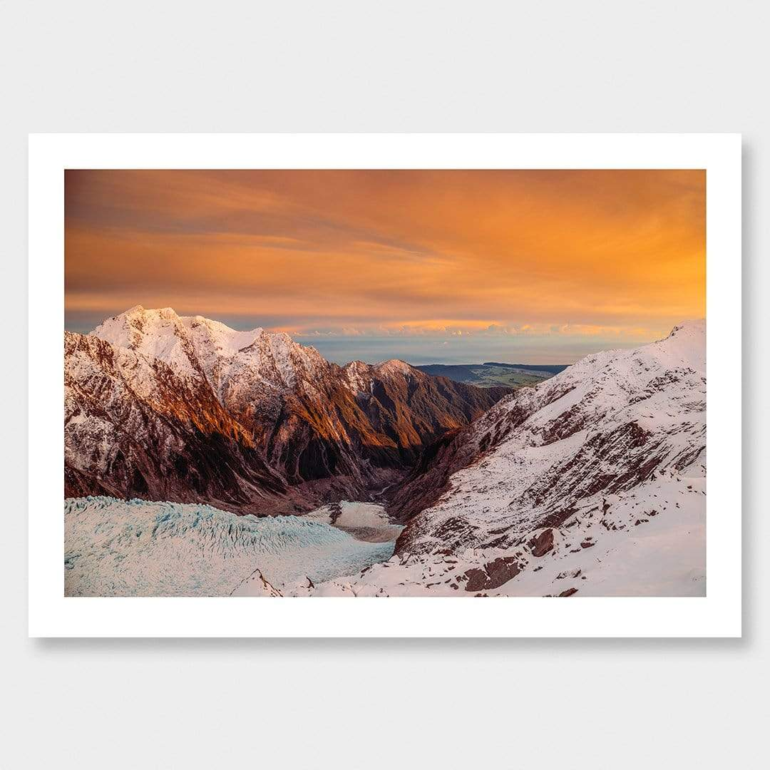 First Light in Franz - Franz Josef Glacier Photographic Print by Mike Mackinven