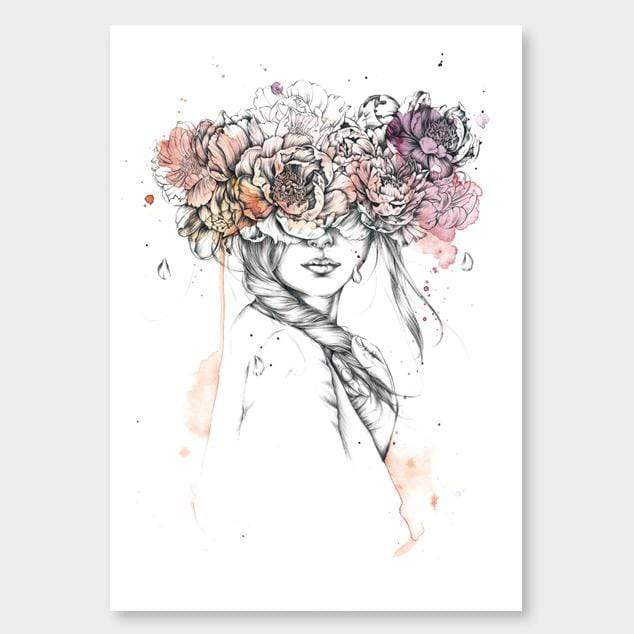Floral Mask Art Print by Chloe Ruby