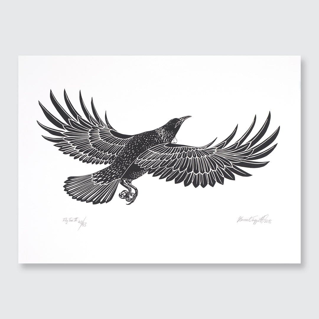 Fly Tui MK 2 Screen Print by Daniel Tippett
