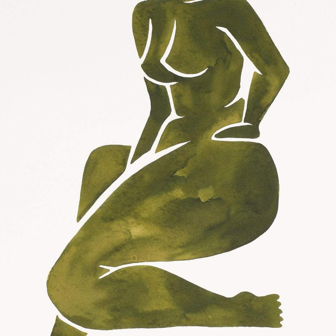 Green Nude I Original Painting by Katie Revie