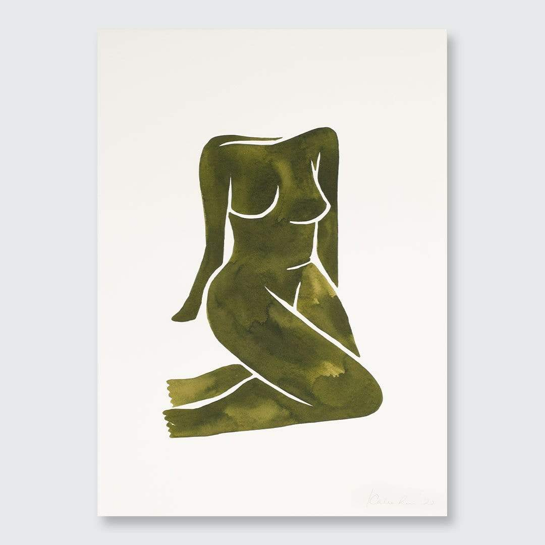 Green Nude II Original Painting by Katie Revie