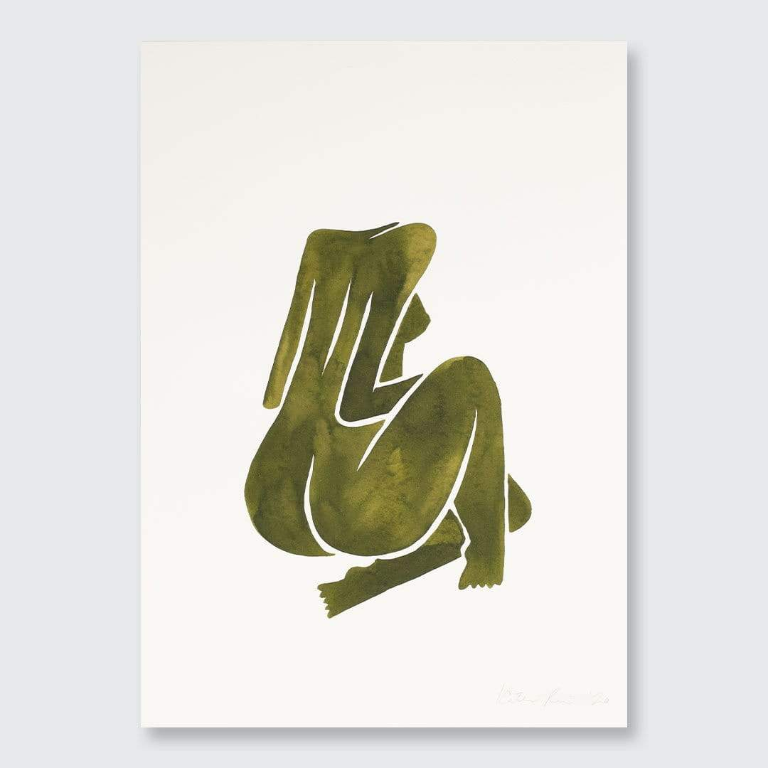 Green Nude III Original Painting by Katie Revie