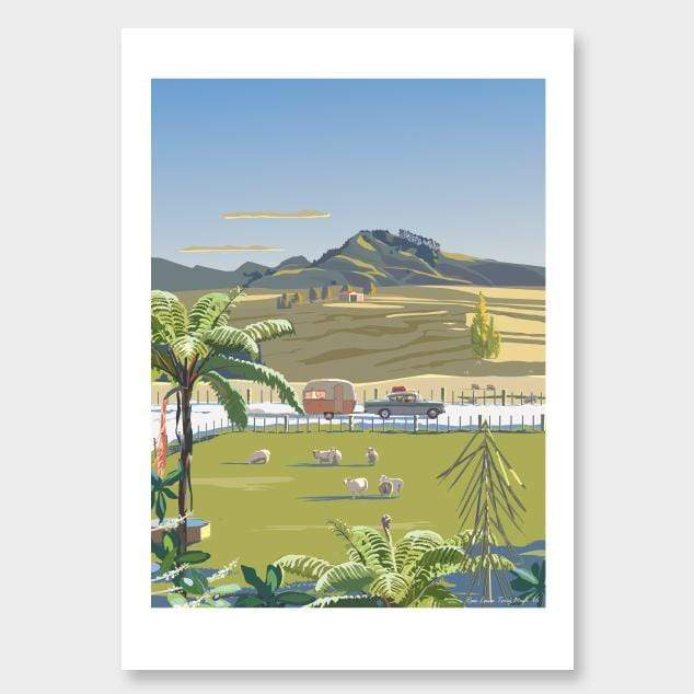 Heading North (Wellsford) Art Print by Contour Creative Studio