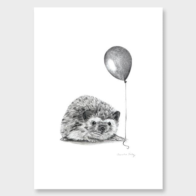 Hedgehog Art Print by Emmaline Bailey