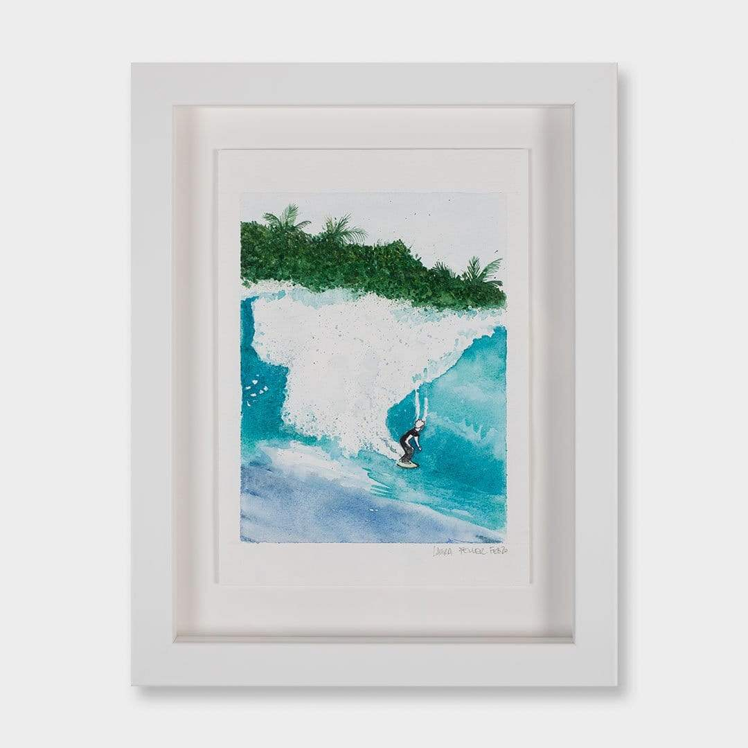 Indo Barrel Original Artwork by Laura Feller