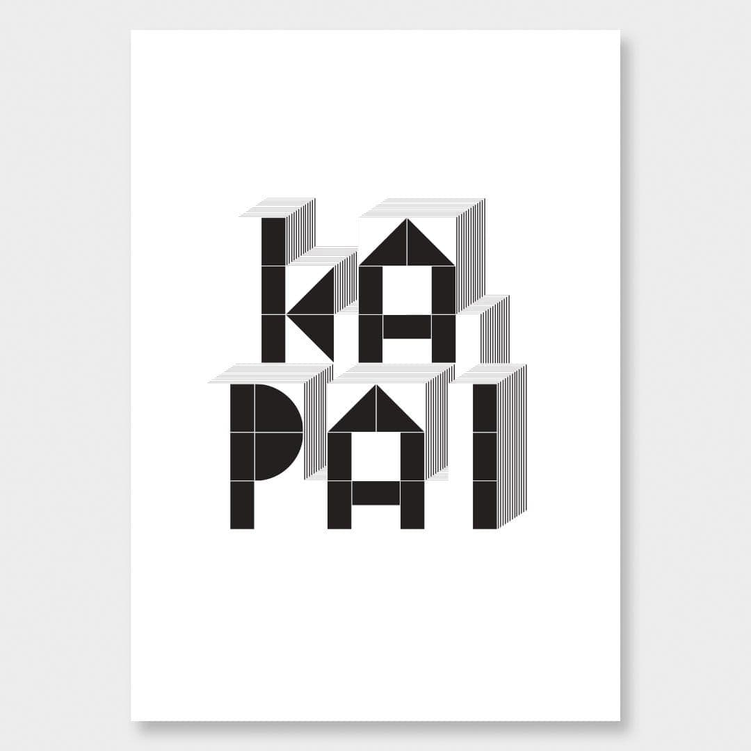 Ka Pai Black Art Print by 326
