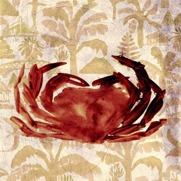Kaimoana Crab Art Print by Lisa Baudry