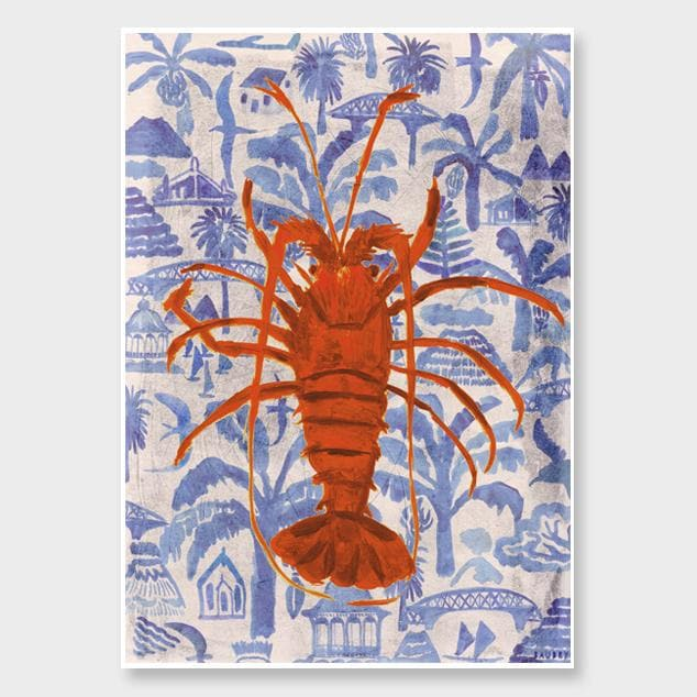 Kaimoana Crayfish Art Print by Lisa Baudry