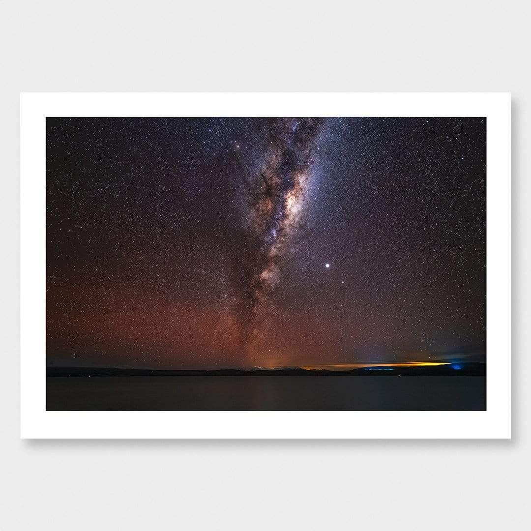 Lake Pukaki Milky Way Photographic Print by Mike Mackinven