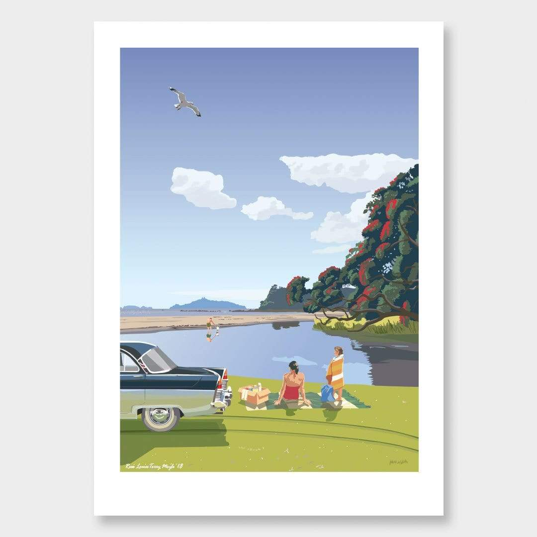 Lang Cove 1969 Art Print by Contour Creative Studio