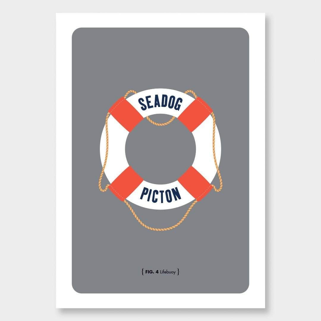 Nautical Man Art Print Series: Lifebuoy by 326