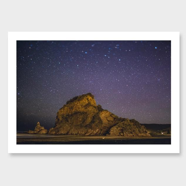 The Lion – Piha Photographic Print by Mike Mackinven