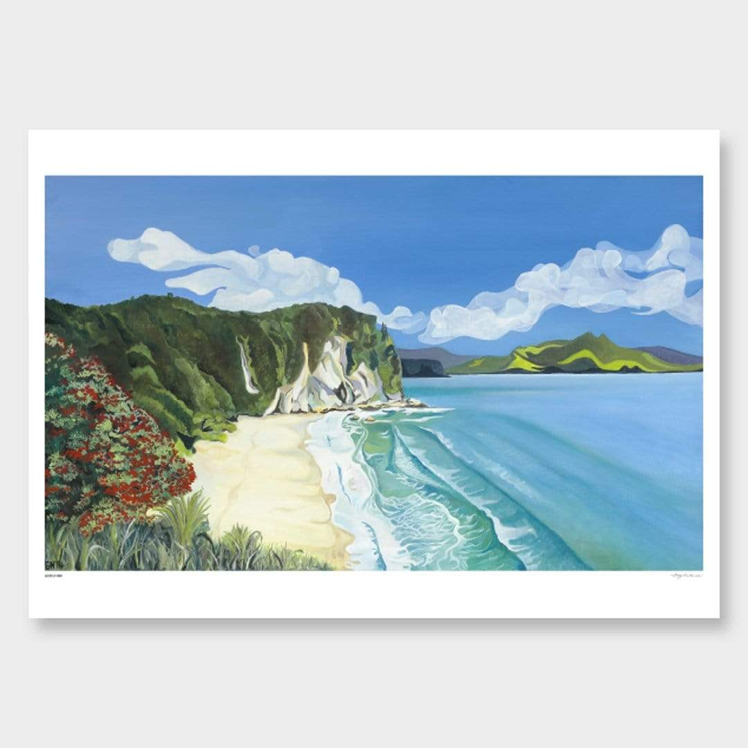 Lonely Bay Art Print by Guy Harkness