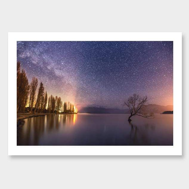 Lonely Tree – Wanaka Photographic Print by Mike Mackinven