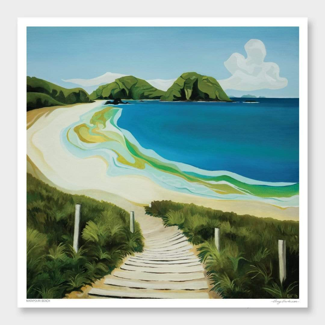 Matapouri Beach Art Print by Guy Harkness