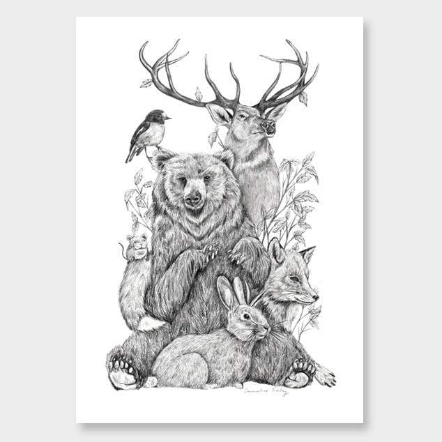 Menagerie Art Print by Emmaline Bailey