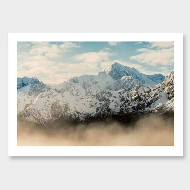 Misty Mt Cook Photographic Print by Mike Mackinven