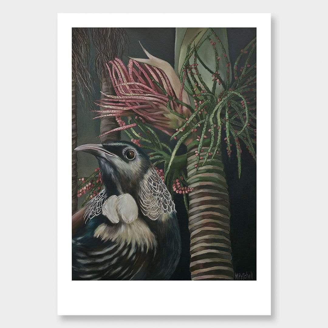 Moreau Tui Art Print by Margaret Petchell