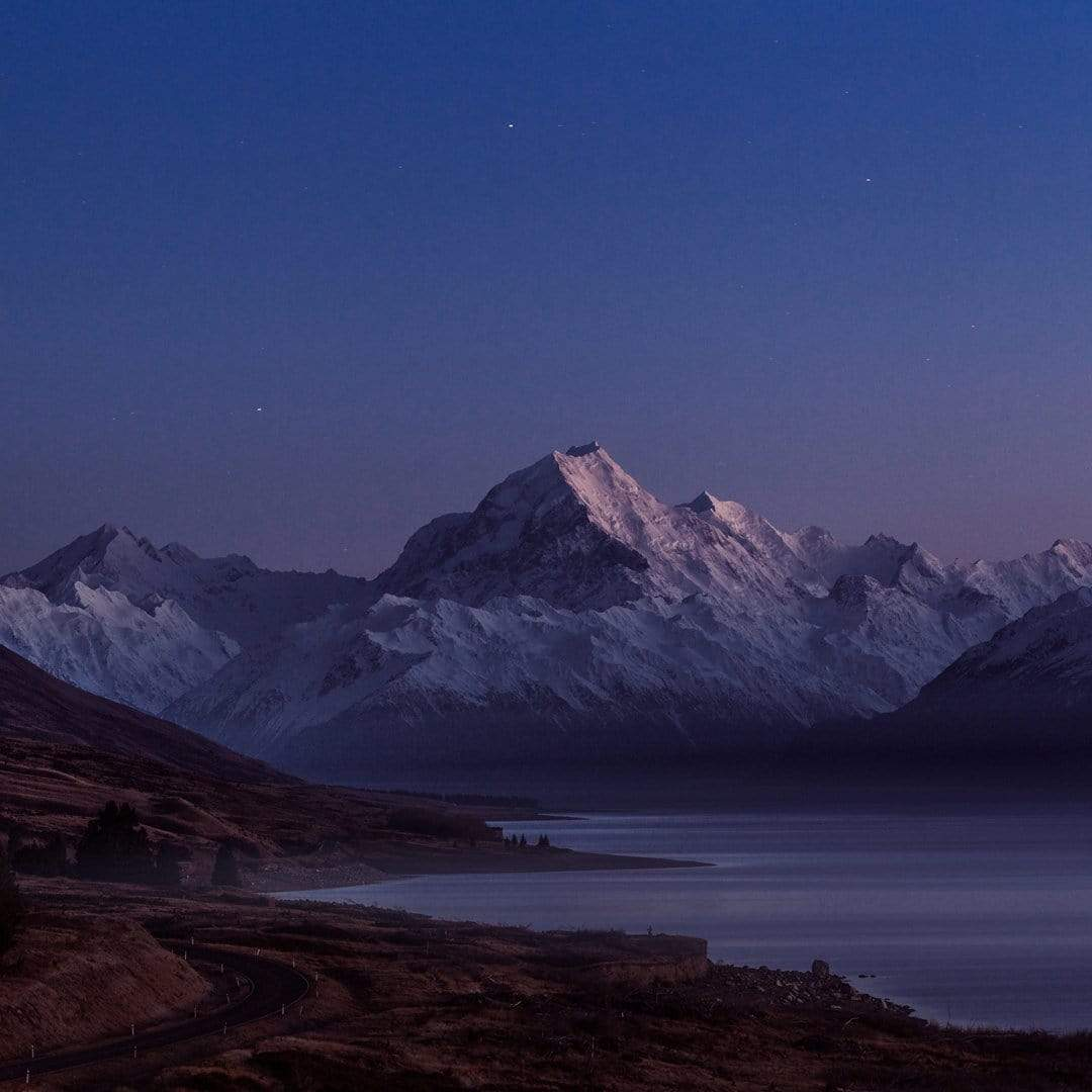 Morning Glow - Mount Cook Photographic Print by Mike Mackinven