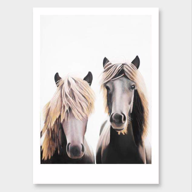Mortimer & Clemente Horse Art Print by Margaret Petchell