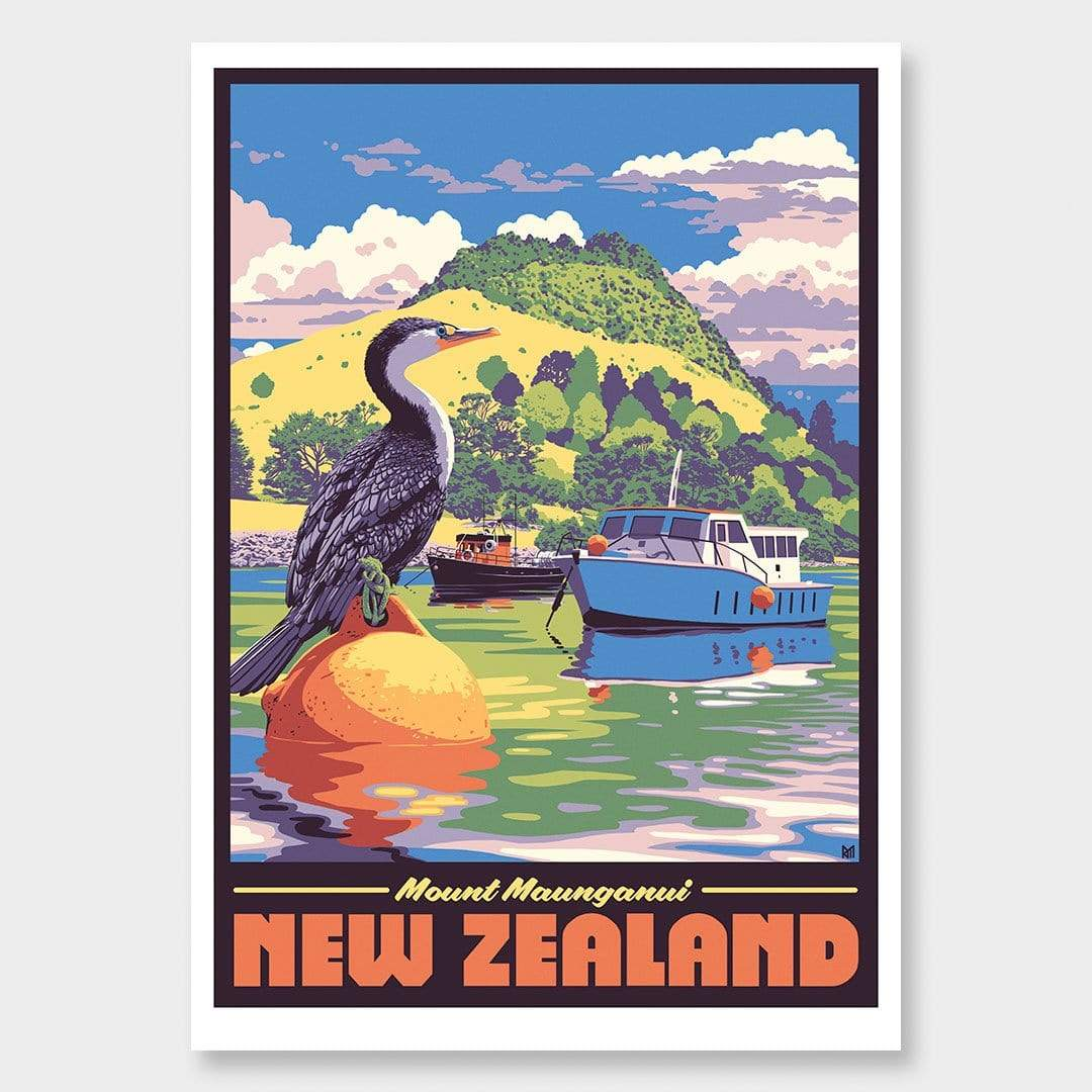 Mount Maunganui Art Print by Ross Murray