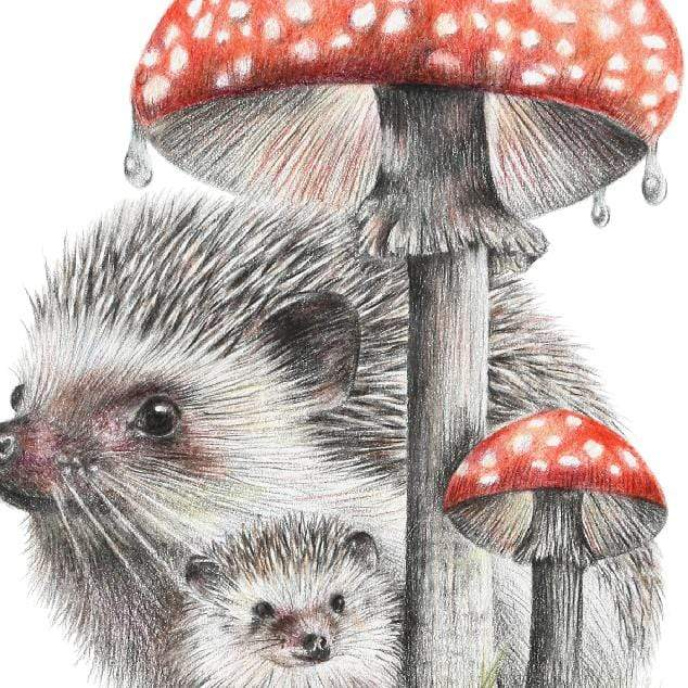 Mushroom Umbrella Art Print by Olivia Bezett