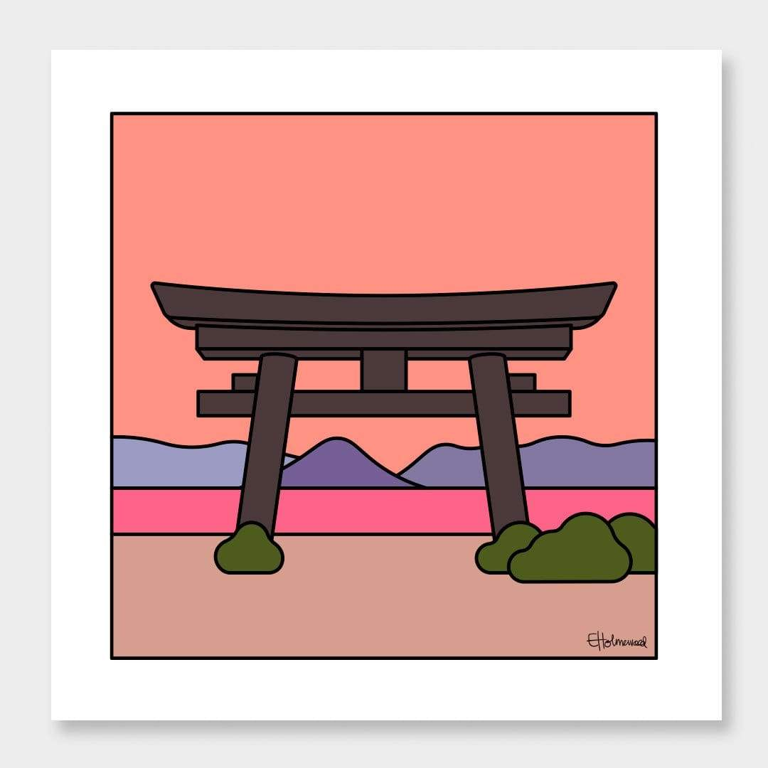 Naoshima Sunset Art Print by Emile Holmewood