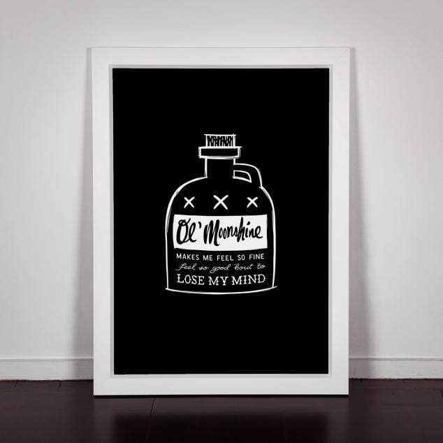 Moonshine Art Print by Natasha Vermeulen