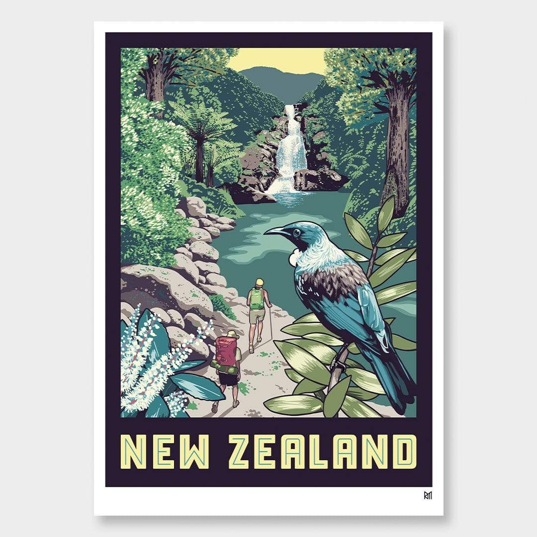 New Zealand Tui Art Print by Ross Murray