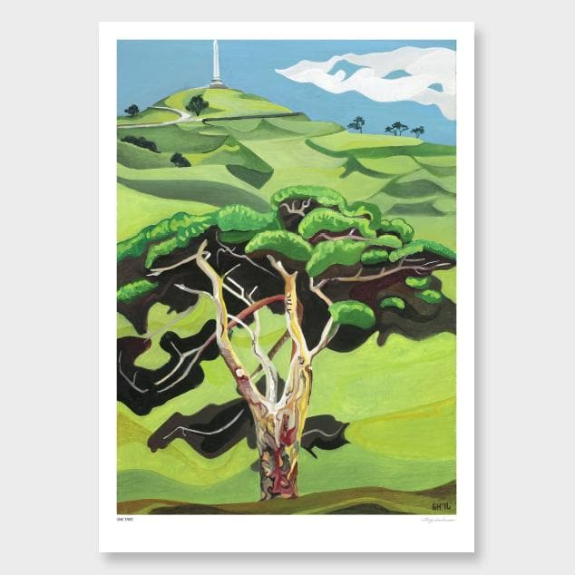 One Tree Art Print by Guy Harkness
