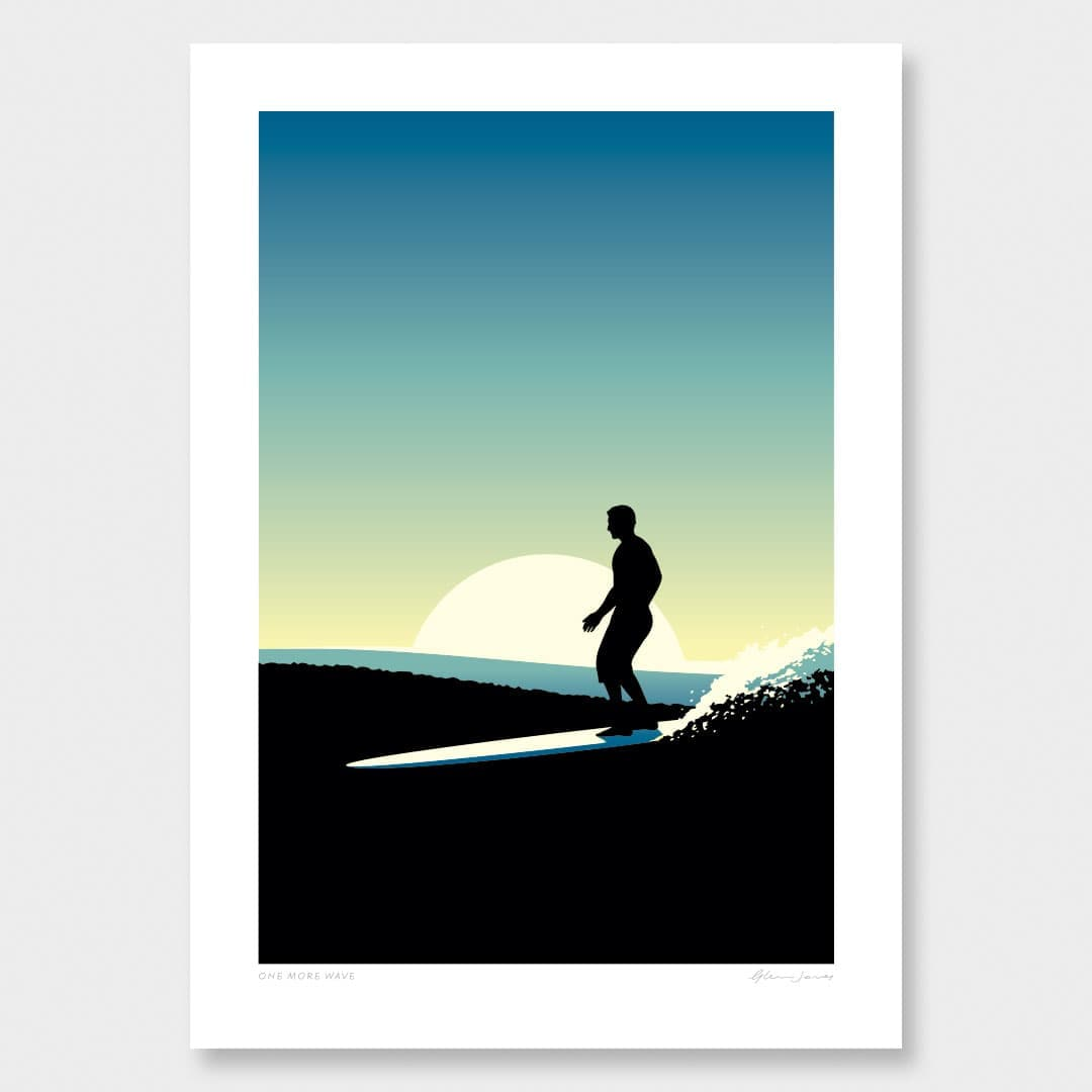 One More Wave Art Print by Glenn Jones