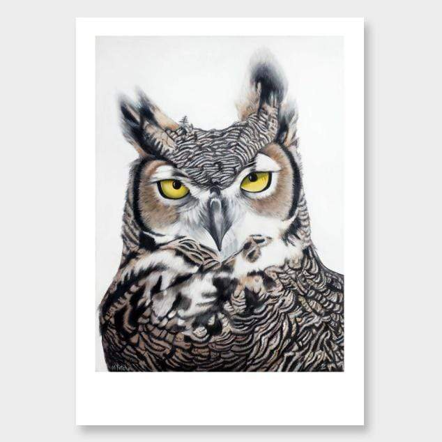Herbert Owl Art Print by Margaret Petchell