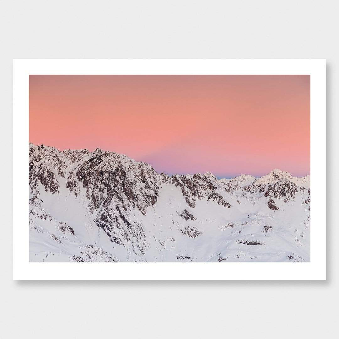 Pastel - Aoraki Mount Cook National Park Photographic Print by Mike Mackinven